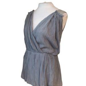 ANTHROPOLOGIE Deletta Blouse Pima Cotton Size M
